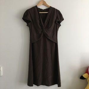 Banana Republic 100% Silk Sheath VNeck Dress Lined